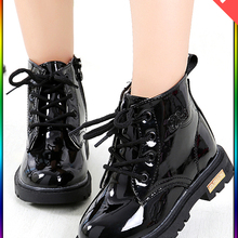 Children Shoes Boots Girl Waterproof Kids Winter New PU for Size-21-37