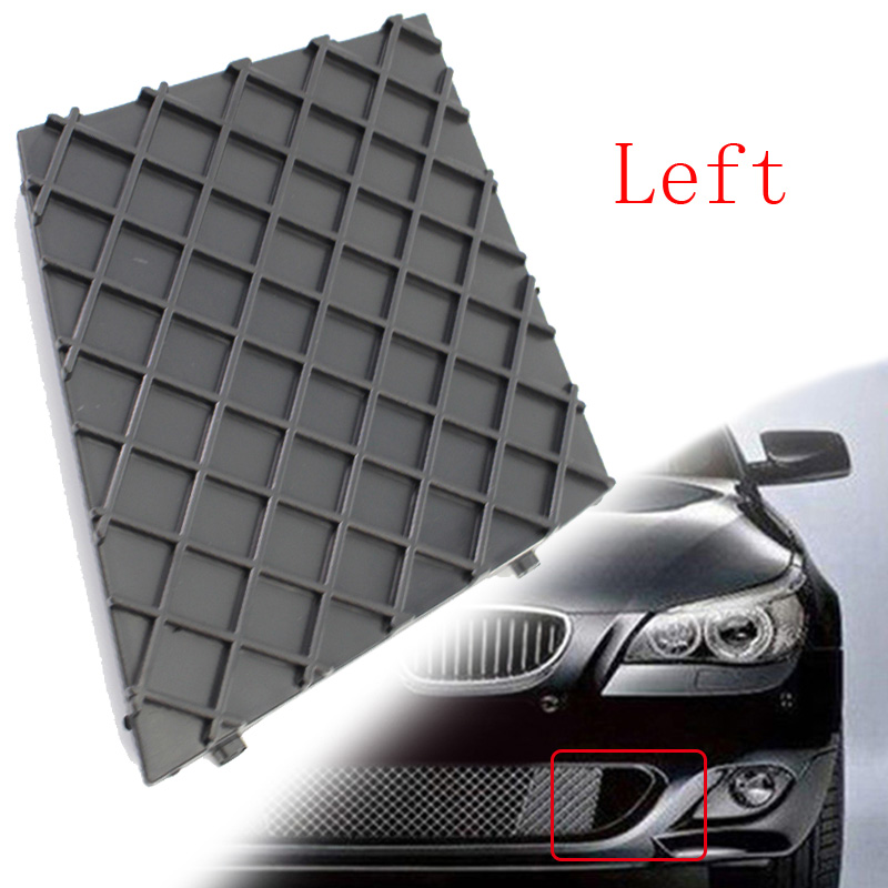 2Pcs Car Front Bumper Lower Mesh Grill Grille Cover 51117897186 For BMW E60 E61