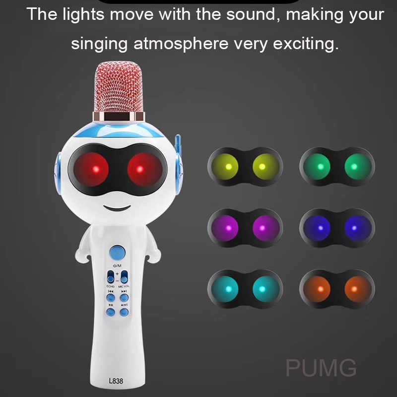 Children Condenser Microphone Bluetooth Support Sound Change TF Professional Studio Kid Toy Karaoke Microphones For Record Music