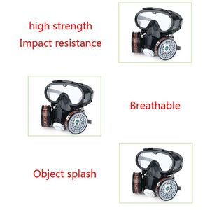Image 2 - 1Set 9600A One Piece Full Face Respirator Dust Gas Mask for Painting Spary Smoke Fire Synthesis Protection E65A