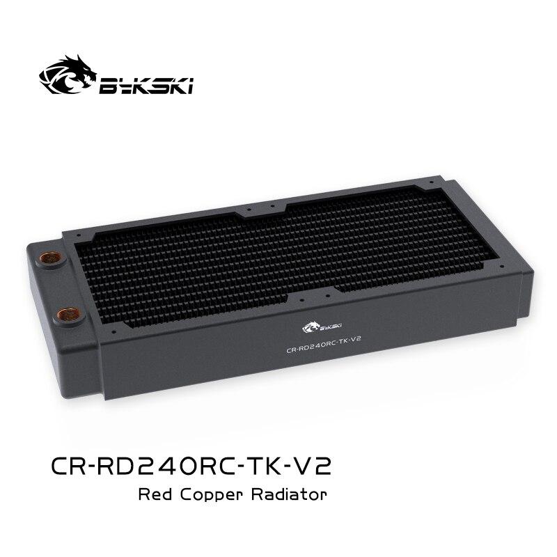 Bykski черный радиатор охлаждения воды 240 мм медный, толщина около 40 мм, лучше для 12 см, плотный веер 25 мм, CR-RD240RC-TK-V2