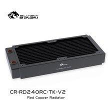 Bykski czarny chłodzenie wodne 240mm Radiator miedziany, o grubości 40mm, lepszy dla wentylatora o grubości 12cm ,25mm, CR-RD240RC-TK-V2