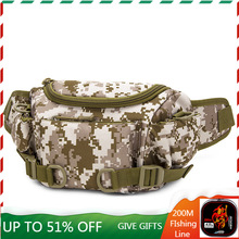 Tactical Military Multi-Function Waist Shoulder Bags Outdoor Climbing Camping Waterproof Wear-resistant 1000D Nylon Backpack