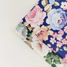 Floral Series Printed Cotton Twill Fabric For DIY Sewing Quilting Material Breathable Pure Textile Dress Craft