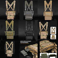 500D Hunting Tactical Vest Modular Chest Rig Set Drop Pouch 3PCS Mag Insert Set