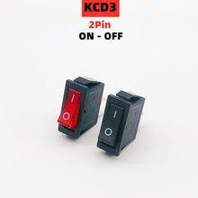 Interruptor de alimentação 15a 250vac/20a 125vac nenhum barco conduzido mini botões 1 pces kcd3 interruptor de balancim ligado-fora 2 posição 2pin do equipamento elétrico