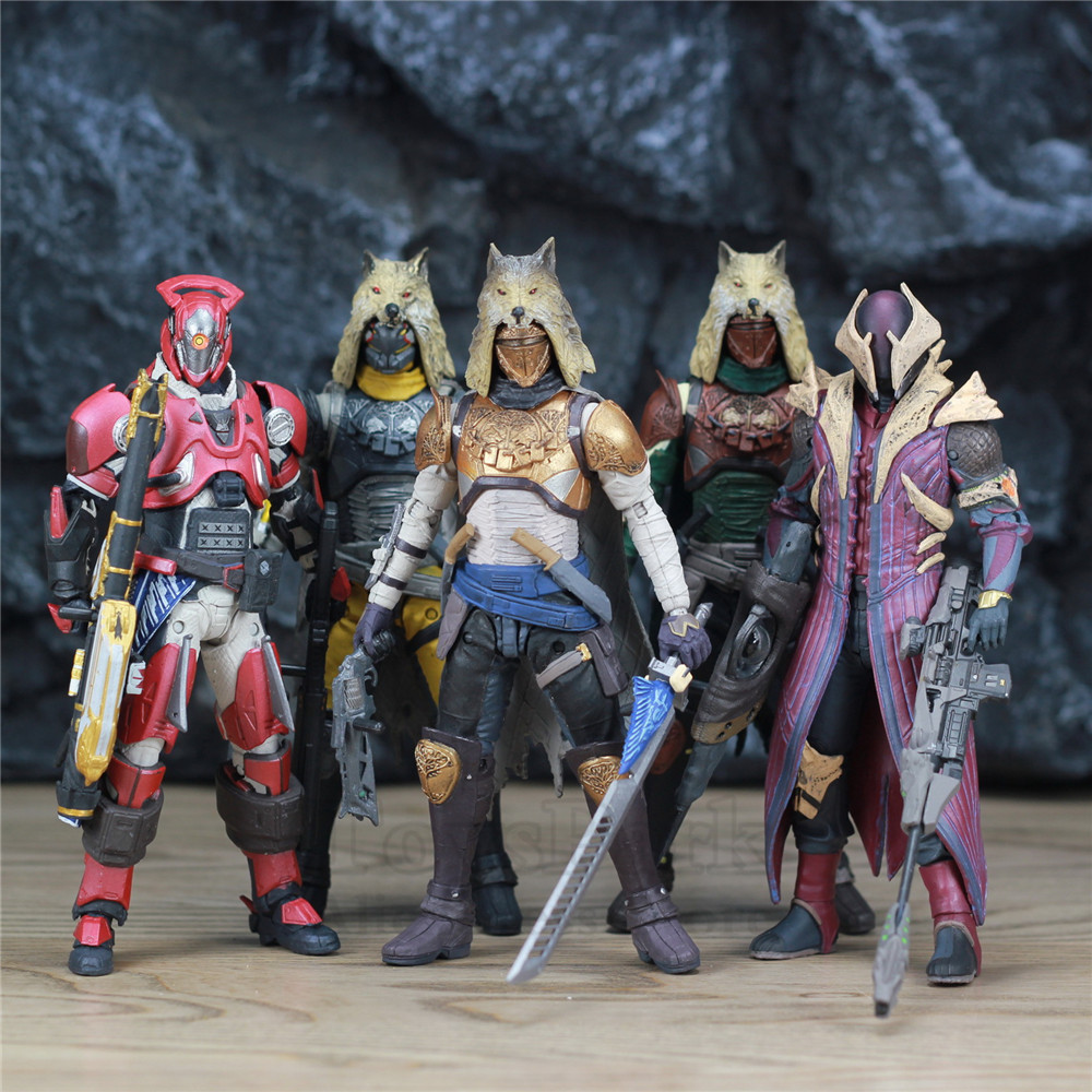 """Image 2 - McFarlane Toys DESTINY 7"""" Iron Banner Hunter Titan King's Fall Warlock Action Figure Model Million Blacksmith Shader Bungie Game-in Action & Toy Figures from Toys & Hobbies"""