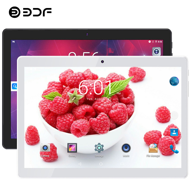 BDF Tablet 2020 New 10 Inch 3G Phone Call Tablet PC Quad Core 1GB RAM 16GB ROM 5MP 1280*800 IPS Tablette 10.1 Tablet Android 4.4