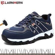 LARNMERN erkek çelik ayak iş güvenliği ayakkabıları hafif nefes Anti smashing anti delinme kaymaz yansıtıcı sneaker