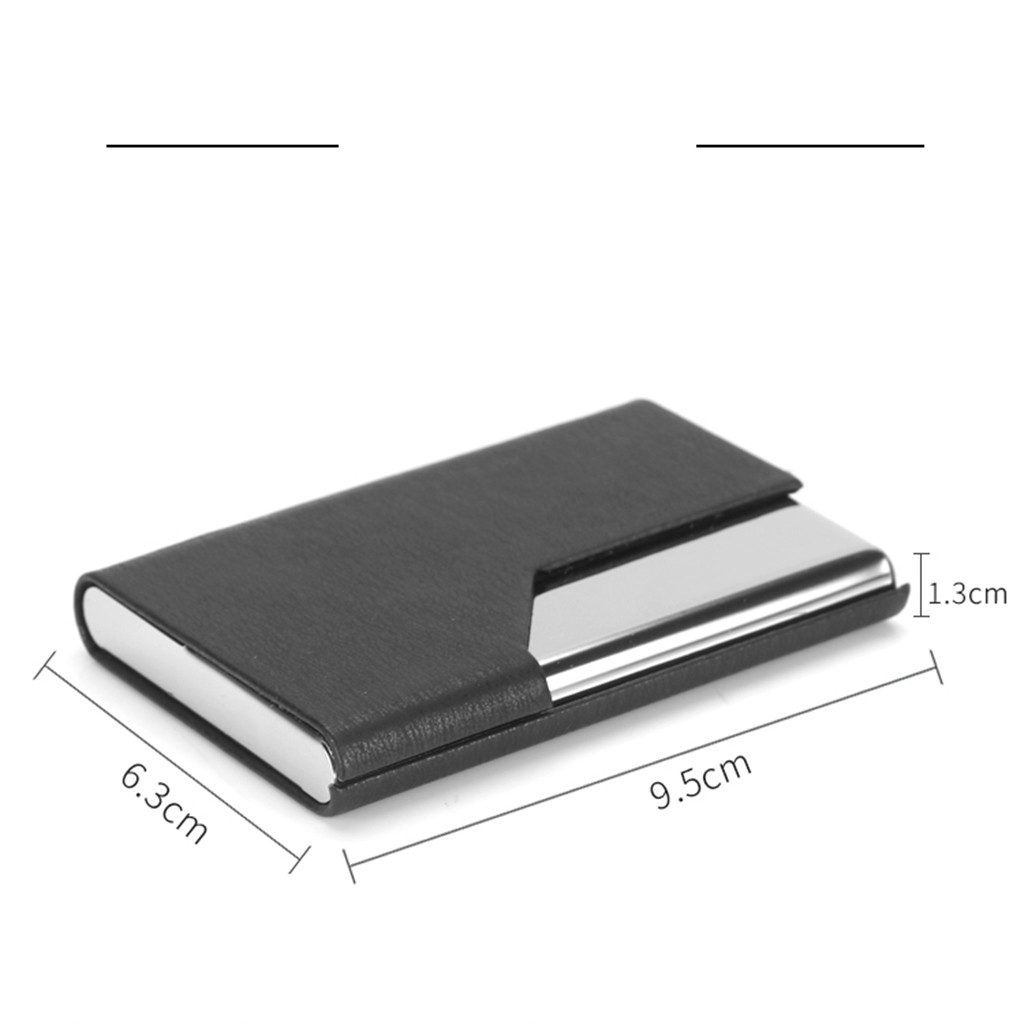 Metal Leather Box Card Wallet Men Stainless Steel Holder Personalized Women Multi Card Holder Cover Pocket Purse 823