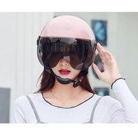 Мотоциклетный шлем для женщин с открытым лицом полудизайн легкий DOT Сертифицированный анти-УФ для мотоцикла Cruiser