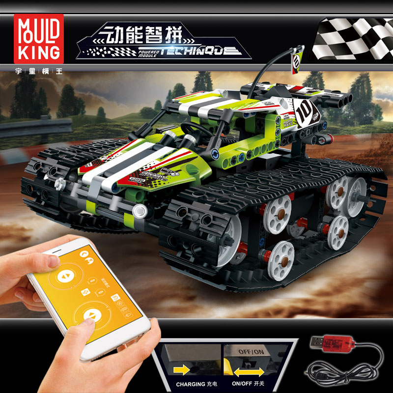 Compatible <font><b>legoingly</b></font> <font><b>42065</b></font> Technic Series The RC Track Remote-control Race Car Set Building Blocks Bricks Educational Toys Gifts image