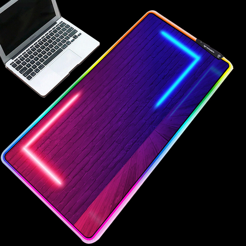 XGZ Exquisite RGB mouse pad classic glare table mat home office gaming high-quality LED lighting keyboard mat