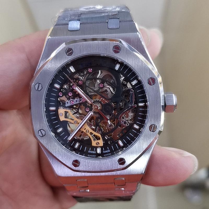 Watch Men AP Royal AAA Oak Audemars Wristwatch Automatic Mechanical Hollow Out Stainless Steel Sapphire Crystal Waterproof 41mm