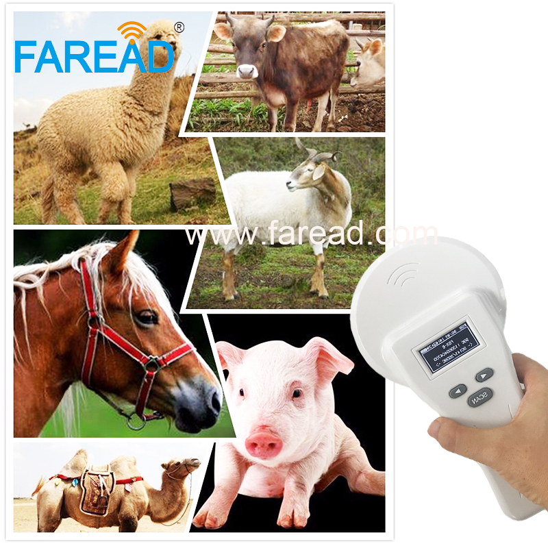 IOS Android Bluetooth Rfid Scanner 125khz 134.2khz LF FDX-A,HDX, FDX-B Animal Microchip Reader For Cattle, Horse