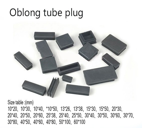 20*30 40 50 60 80mm Oblong Rectangle Plastic feet tube plug,blanking Tube insert ending square feet cap furniture feet-in Furniture Accessories from Furniture