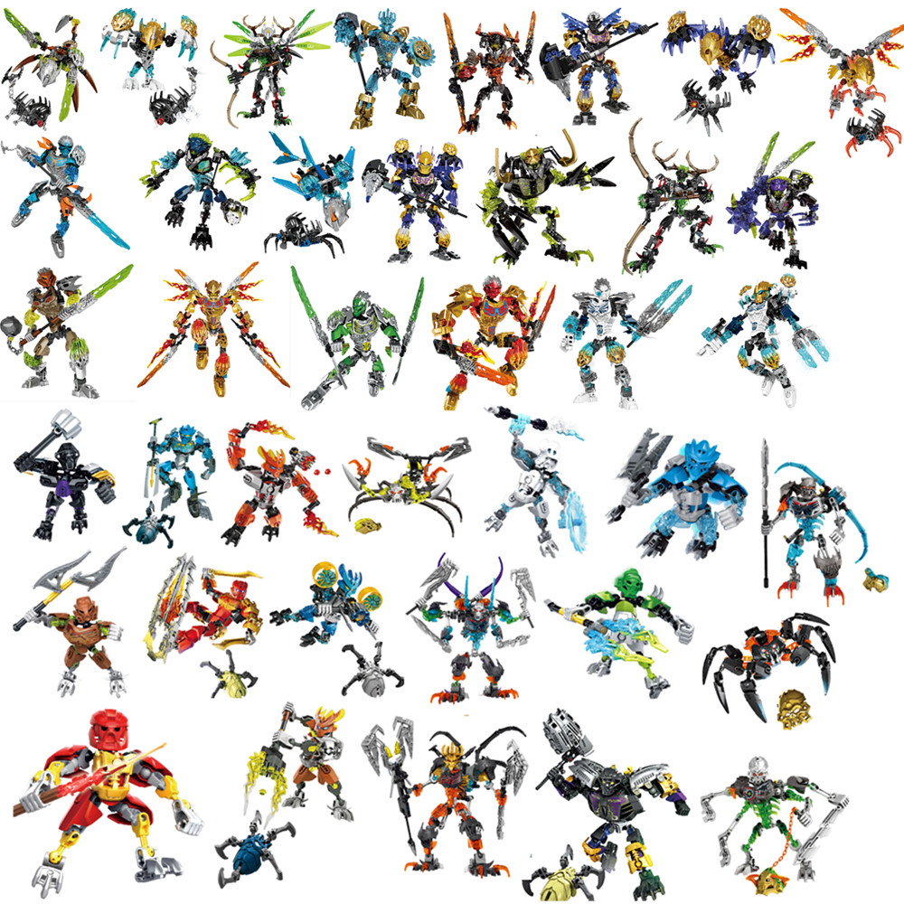 2019 завод Hero Bionicle Lewa-Uniter of Jungle Uxar-существо из джунглей Робот строительные блоки кирпичи игрушки Рождественский подарок