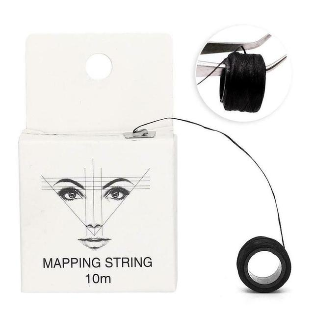 10m 2 Pcs Microblading Mapping String Pre-Inked Eyebrow Marker thread Tattoo Brows Point Line Tool Eyebrow Pencil Marking Line 1