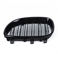 car Front Kidney Grill Double Line Grille For BMW E60 E61 5 SERIES 2003 2009 Car decoration accessories Front Kidney Grilles
