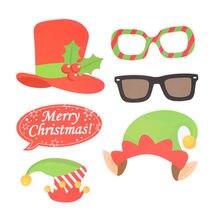32 pçs/set Natal Do Partido Photo Booth Adereços Criativos Feliz Natal Kit Sinal Pose para a Decoração Do Partido