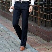 Мужской костюм брюки весна и осень новые мужские микро-роговые брюки тонкие ноги брюки корейские широкие брюки