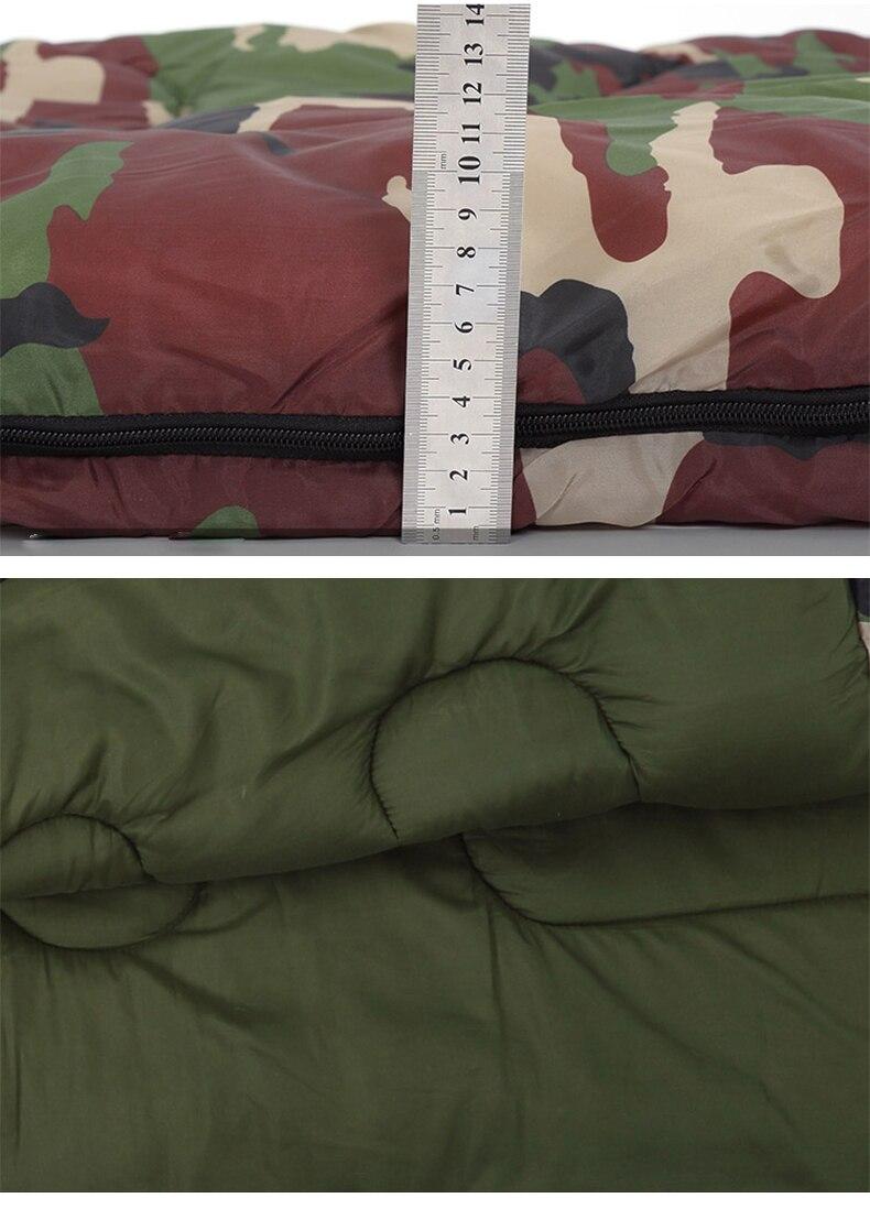 Algodão acampamento saco de dormir envelope estilo