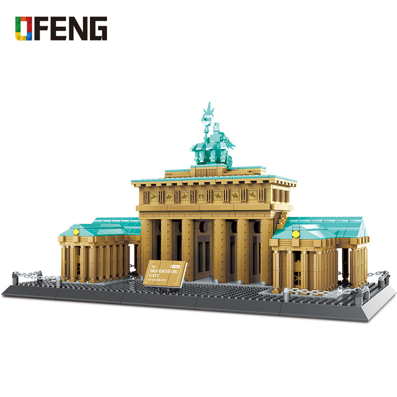 Architecture Brandenburger Tor Building Blocks Bricks Classic Skyline Model City Kids Toys Gift Compatible Building Kits