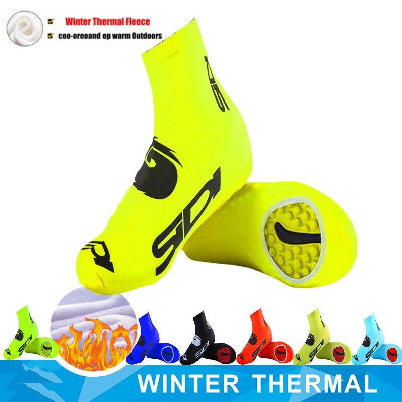 SIDIING 2020 Cycling Shoe Covers Fleece Thermal Warm Man Woman Overshoes Road Bicycle Bike MTB Winter Cycling Shoe Cover