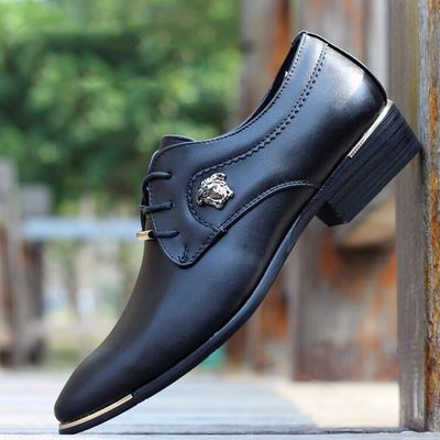 Men shoes sports breathable casual shoes mesh pointed leather shoes men suits British business social youth Banquet dance shoes