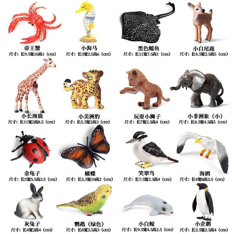 Imitacje zwierząt duża kolekcja miniaturowa figurka dziki Model zwierzęcia figurka Bonsai ogród dekoracja wnętrz zabawki dla dzieci