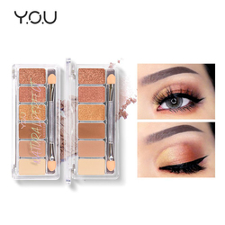 YOU Naturally Perfect Eyeshadow Palette 6 Colors Matte Eye Makeup Glitter Eye Shadow Palette Beauty Glazed Korean Cosmetics