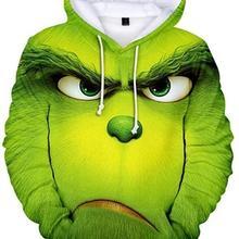 🎅Christmas 3D Print Grinch Hoodie Pullover Unisex Casual Hoodie🎄