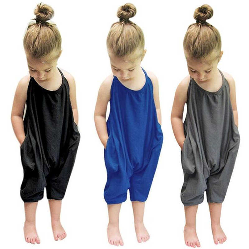Kinder Mädchen Overalls Neue Sommer Baby Mädchen Solide Overalls Overall Bodys Weichen Mädchen Strampler Mode Sunsuits Outfit Kleidung