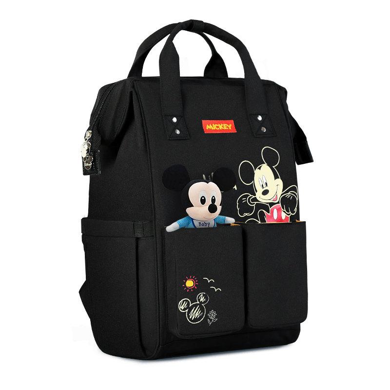 Disney USB Diaper Bag Backpack Baby Care Bags Bottle Warmer Mummy Backpack Maternal Minnie Mickey Bolsa Maternity Backpack