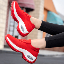 Lace-up Shoes Womens Flats Slip On Shoes Mesh Casual Sock Sneakers Platform Comfortable Ladies Breathable Jogging Sneaker 2020 siddons women shoes flat breathable mesh platform sneakers women soft comfortable slip on ladies casual flats shoes sock shoes
