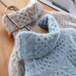 Hoge kraag kasjmier trui vrouwelijke dikke losse trui twisted knit dieptepunt trui grote maat vrouwen kleding