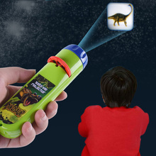 Flashlight Toy Puzzle Projector Baby Early Educational Luminous Toy Animal Dinosaur Child Slide Projector Lamp For Kids Gift