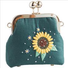 Наклонный Карманный Кошелек Европейский Набор для вышивания простая трехмерная вышивка лента Набор для вышивания рукоделие