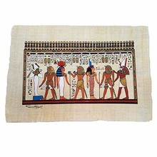 Papiro de los Dioses. Papiro-Hecho Original Pintado a Mano, regalo por el fabricante, Mohey El DIN, Hace, 40 años Mide