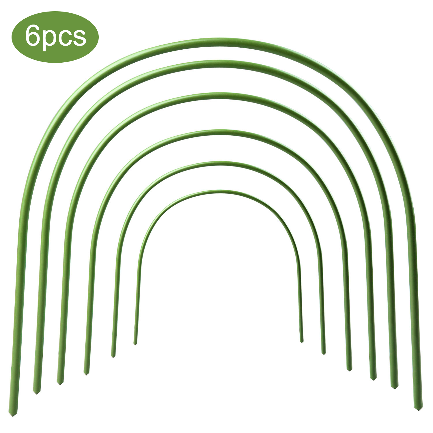 6Pcs Greenhouse Hoops Plant Hoop Grow Garden Tunnel Hoop Support Hoops  Plant Holder Tools For Garden Stakes Farm Agriculture N