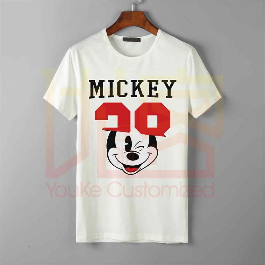 2019 футболка для мужчин и женщин с героями мультфильмов, надпись niike, несколько логотипов, Микки Маус, графический обычный Повседневный Топ, футболка