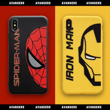 Tide Brand Marvel Avengers Iron Man Spiderman Phone Case for iPhone 11 Pro X XR XS Max 6 6S 7 8 Plus Hot Soft Phone Cover Coque(China)