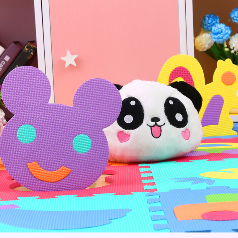 H3246ff6340be40078e04e2a4bf733571t 9Pcs/set EVA Foam Baby Play Mat Stitching Crawling Rug Kid Kruipen Mat Assembled Animal Carpet Puzzle Pad For Children Games