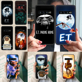 E.T. The Extra-Terrestrial Phone case For Samsung Galaxy Note S 8 9 10 20 Plus E Lite Uitra black back soft bumper trend coque image