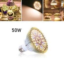 E27 Phyto Lamp 50W LED Grow Light Full Spectrum Growing Light For Indoor Plants Hydroponics Seedlings Flower Grow Bulb SMD5730