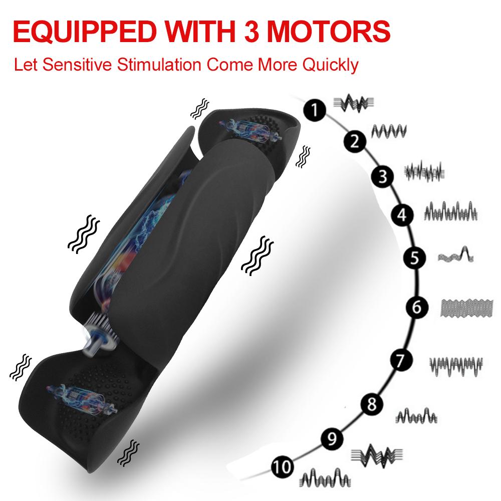 Glans Exercise Vibrator 3 motors
