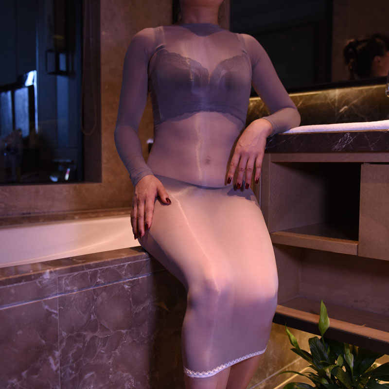 Sexy 8d Glossy Dress Oil Shiny Sheer Body Stocking Women For