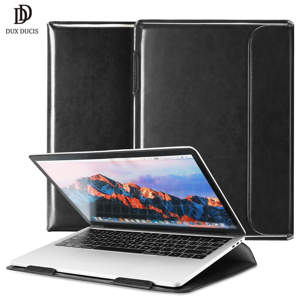 "PU Leather Bag Case Laptop Flip Book Stand Cover for MacBook Air Pro 13/"" 15 Inch"
