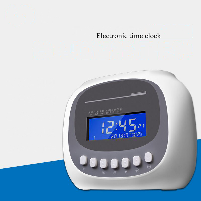 Electronic time clock Attendance machine Microcomputer paper card clock Work paper card sign in
