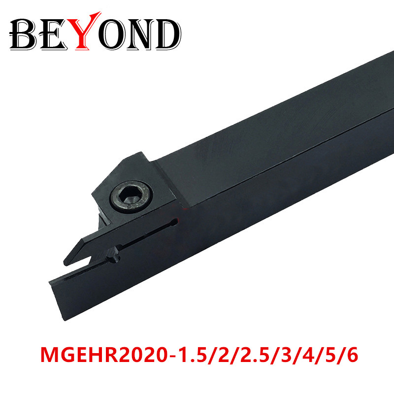 BEYOND MGEHR2020-2 Lathe Cutter Grooving Turning Tool Holder MGEHR Boring Bar MGEHR2020-3 Carbide Inserts Cnc MGEHR2020 MGMN200